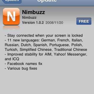 Nimbuzz update