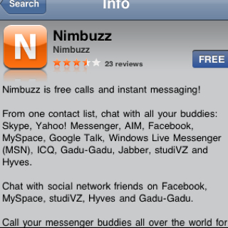 Nimbuzz update Iphone